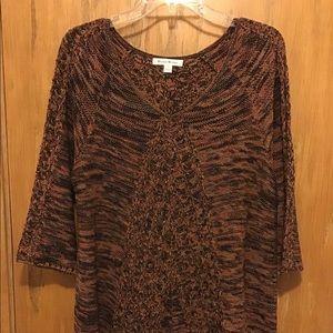 Studio Works Brown/Orange/Gold Fleck Sweater - L